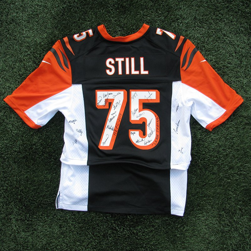 Patriots Cheerleaders Autographed Devon Still #75 Bengals Jerseys