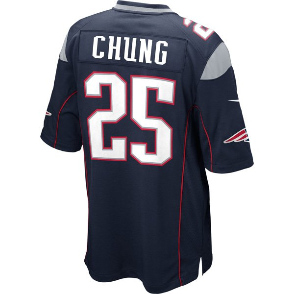 Nike Patrick Chung #25 Game Jersey-Navy