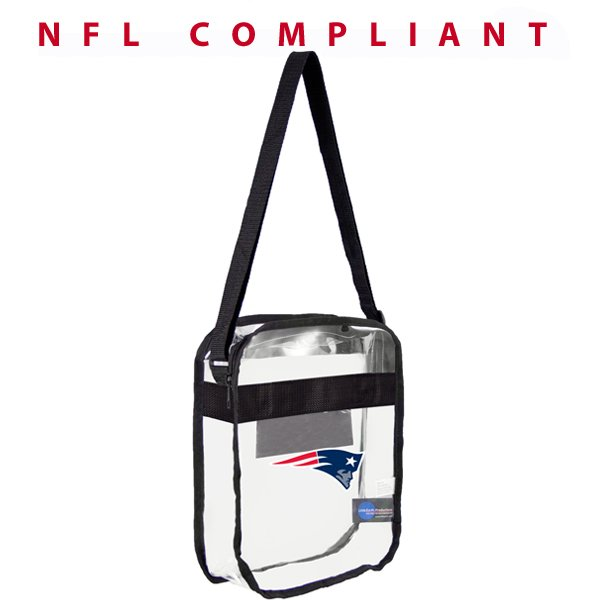 Patriots Clear Cross Body 12x12x6 Bag