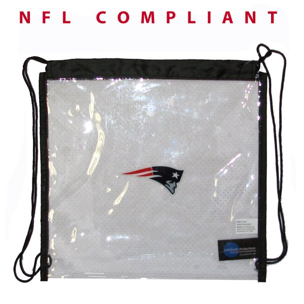 Patriots Clear Drawstring Bag