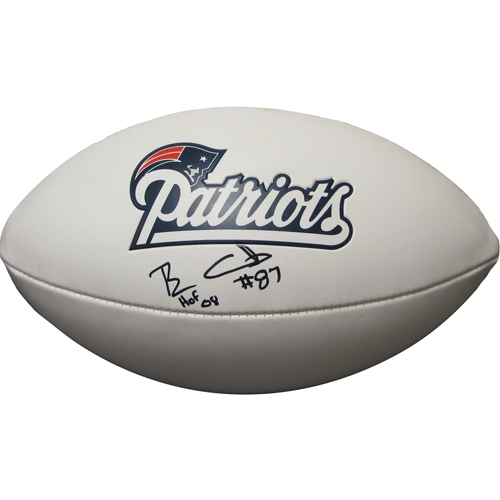 Ben Coates Autographed 3 Panel Football