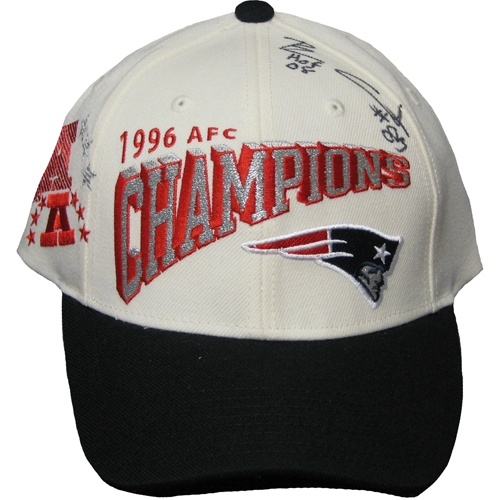 Ben Coates Autographed 96 AFC Champs Cap