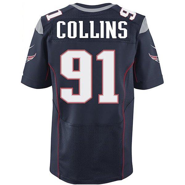 Nike Elite Jamie Collins #91 Jersey-Navy