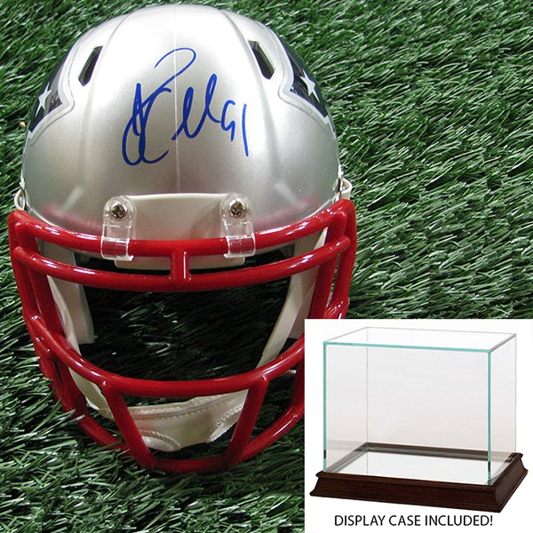 Autographed Jamie Collins Mini Helmet w/Case