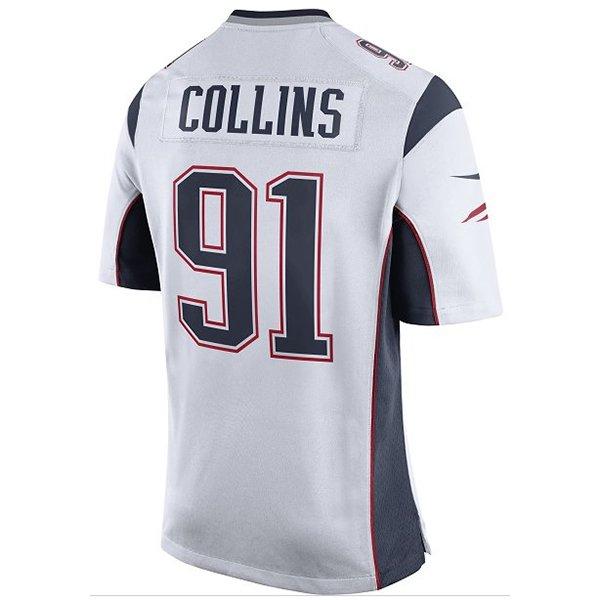 Nike Jamie Collins 91 Game JerseyWhite