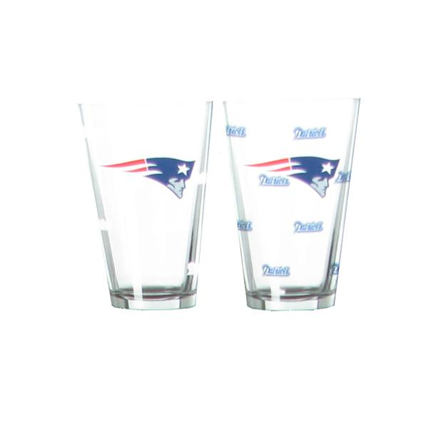 Patriots Logo Color Change Pint Glass Set