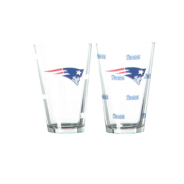 Patriots Logo Color Change Pint Glass Set