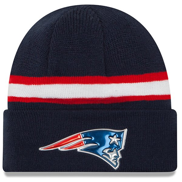 New Era Color Rush Knit Hat-Navy