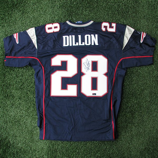 Autographed Corey Dillon Authentic Jersey-Navy