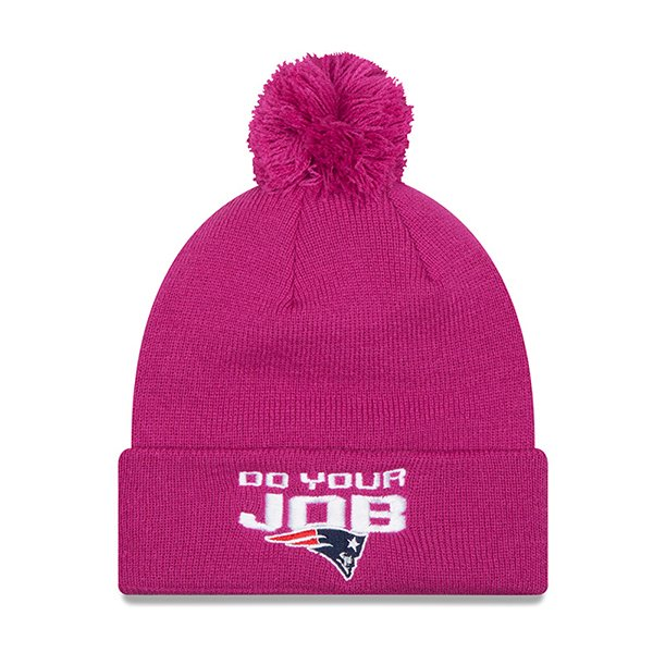 New Era Do Your Job Knit Hat-Pink