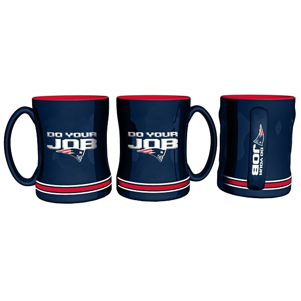 Do Your Job Sculpted Mug-Navy