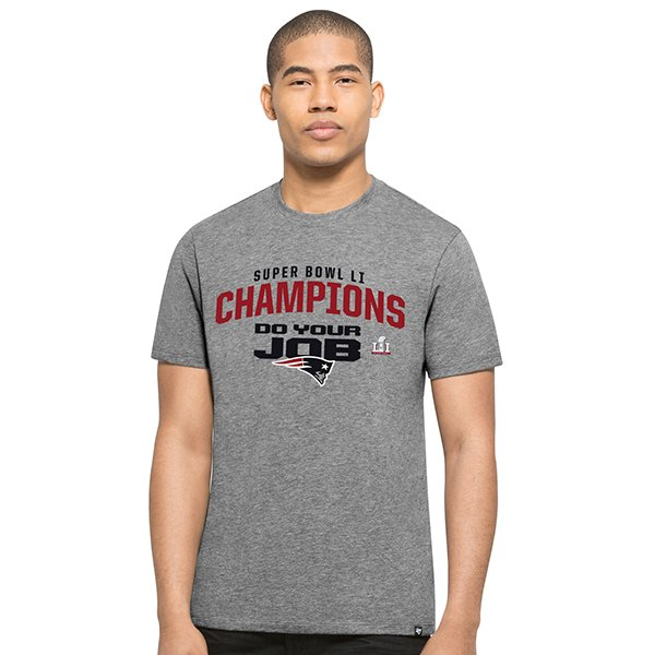 Super Bowl LI Champions/Do Your Job Tee-Gray