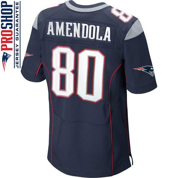 Nike Elite Danny Amendola #80 Jersey-Navy