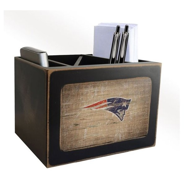 Patriots Distressed Desktop Organizer