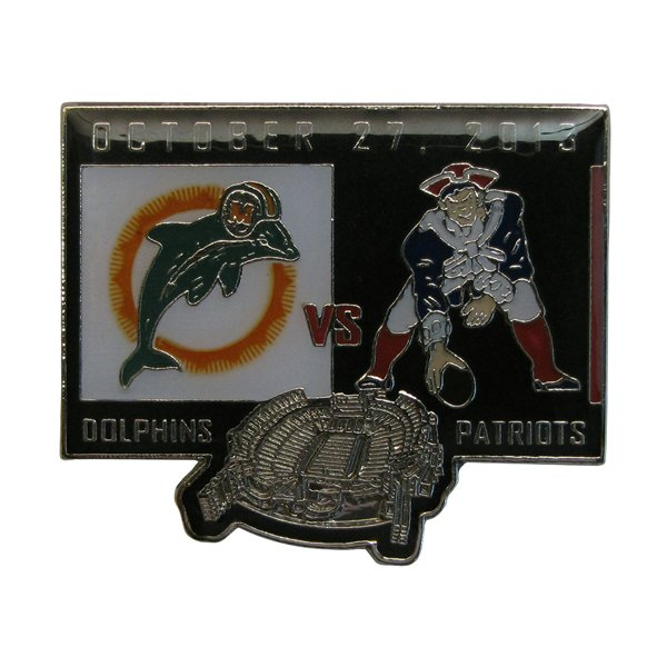 Patriots/Dolphins Gameday Pin 10-27-13