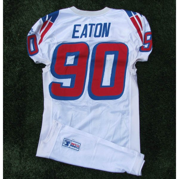 1997 Chad Eaton #90 White Game Worn Jersey