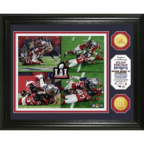 Edelman/Catch Super Bowl LI Photo Mint