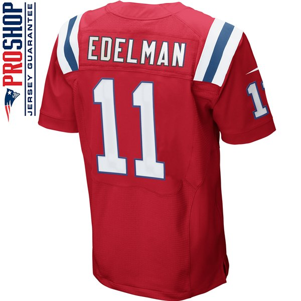 Nike Elite Julian Edelman #11 Throwback Jersey-Red