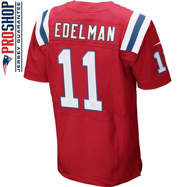 Nike Elite Julian Edelman #11 Throwback Jersey-Red