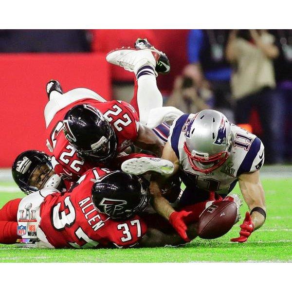 Super Bowl LI Edelman/Catch 8x10 Photo