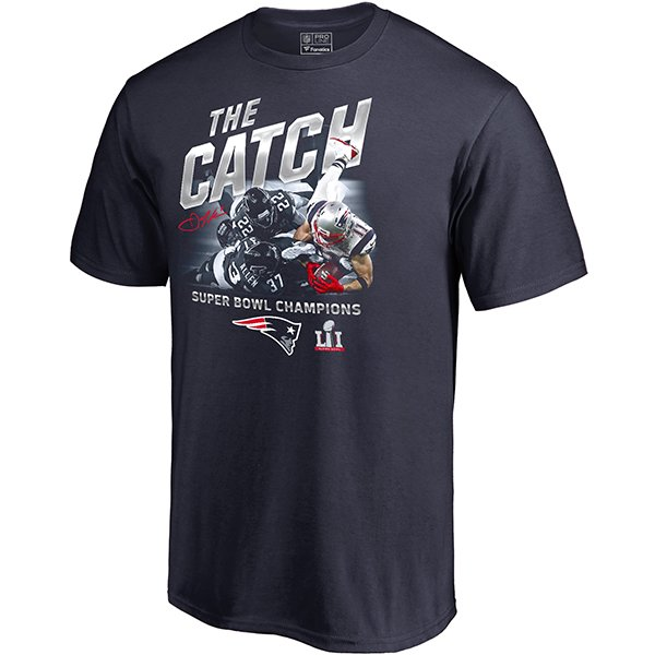 Super Bowl LI The Catch/Edelman Tee-Navy