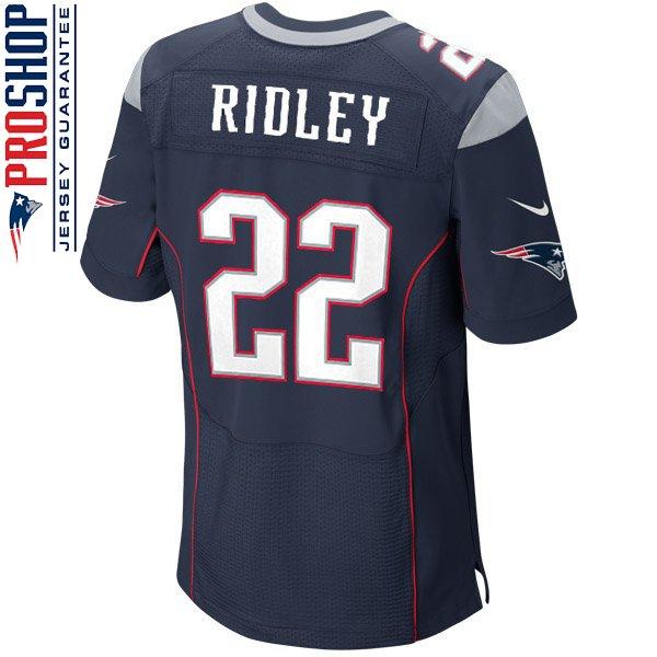 Nike Elite Stevan Ridley #22 Jersey-Navy