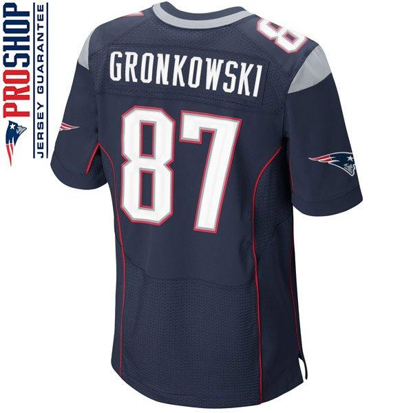 Nike Elite Rob Gronkowski #87 Jersey-Navy
