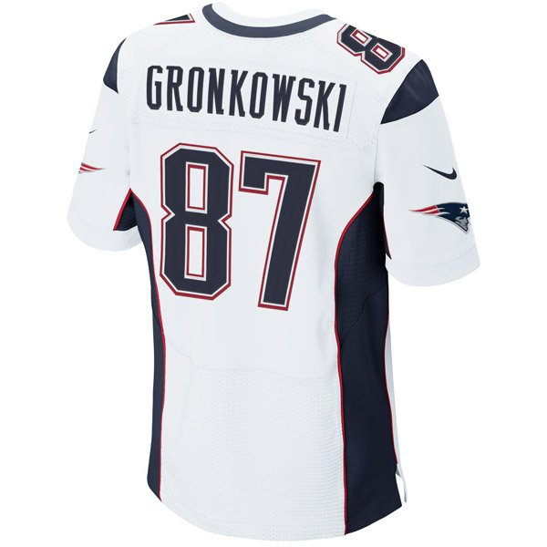 Nike Elite Rob Gronkowski #87 Jersey-White