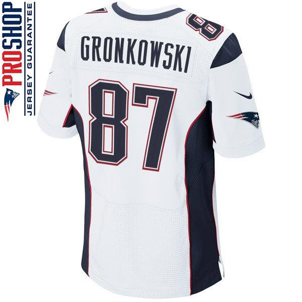 Nike Elite Rob Gronkowski #87 Jersey-White