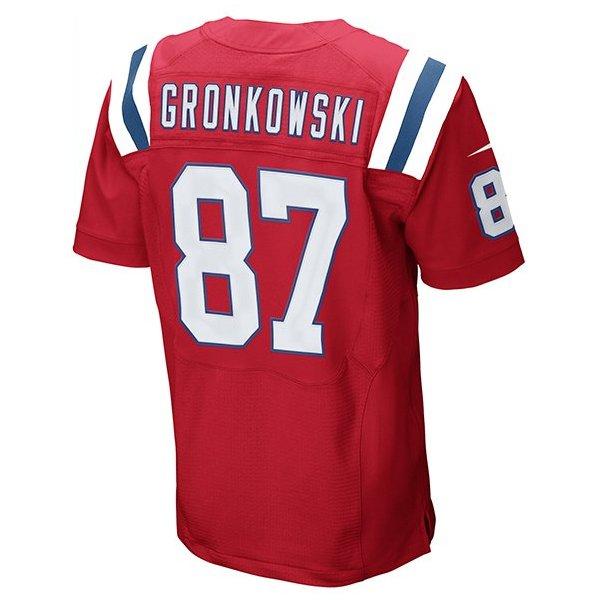 Nike Elite Rob Gronkowski 87 Throwback JerseyRed