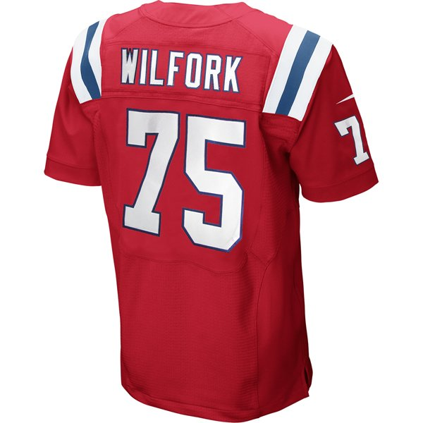 Nike Elite Vince Wilfork #75 Throwback Jersey-Red