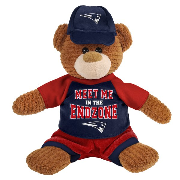 Patriots Plush Corduroy Bear