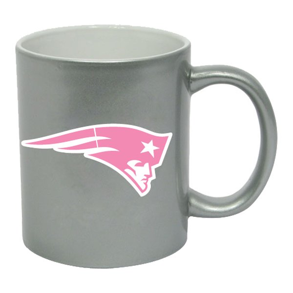 Patriots 11oz Metallic Coffee Mug-Silver/Pink