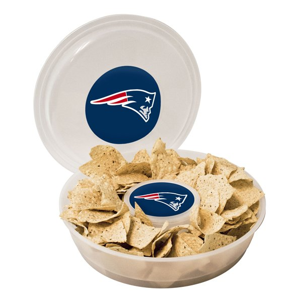 Patriots 14 Inch Chip & Dip Container w/Lid
