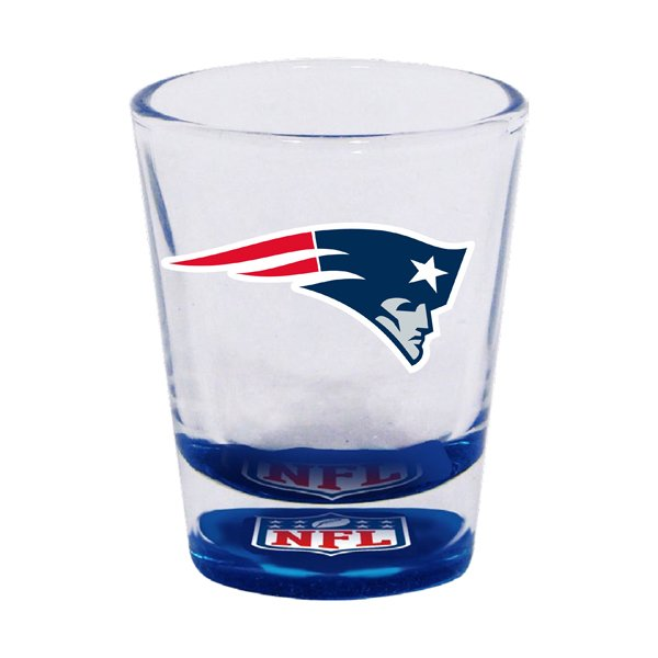 Patriots Bottoms Up Shot Glass 2oz.
