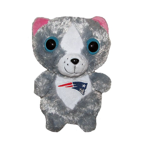 Patriots 8 Inch Big Eyed Plush Cat
