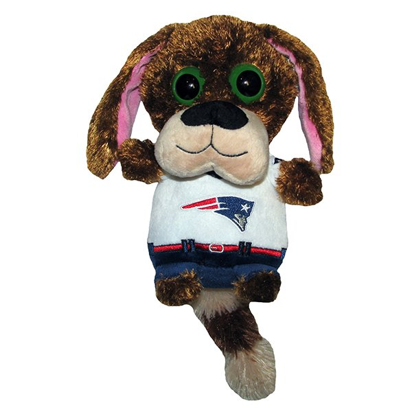 Patriots 8 Inch Big Eye Plush Dog