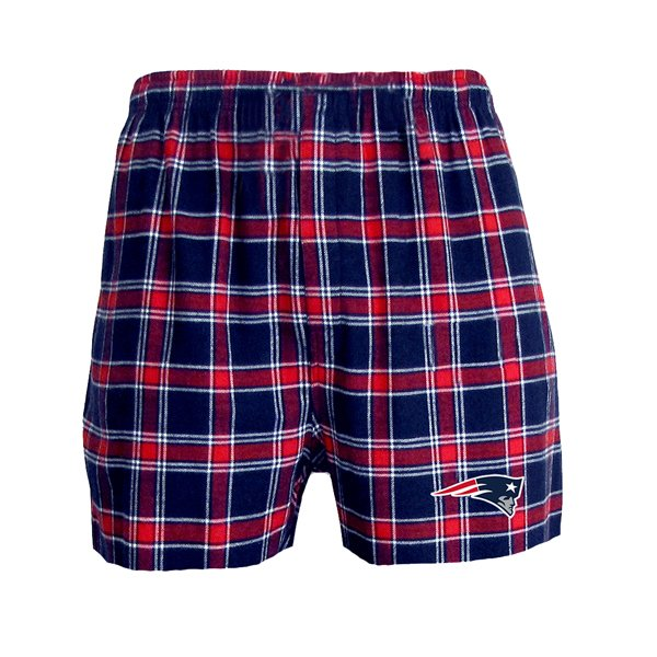 Patriots Acclaim Flannel Boxer-Navy/Red
