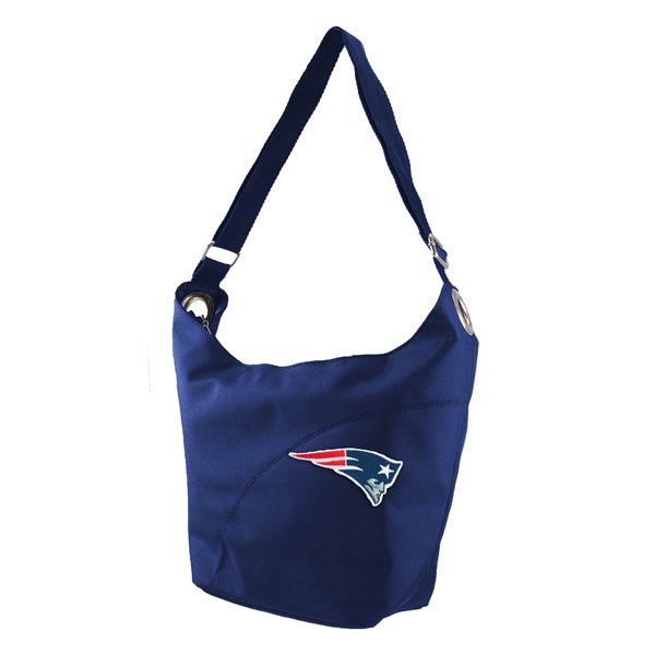Ladies Patriots Color Sheen Hobo Bag-Navy
