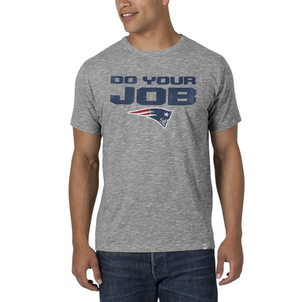 Patriots Do Your Job Scrum Tee-Gray