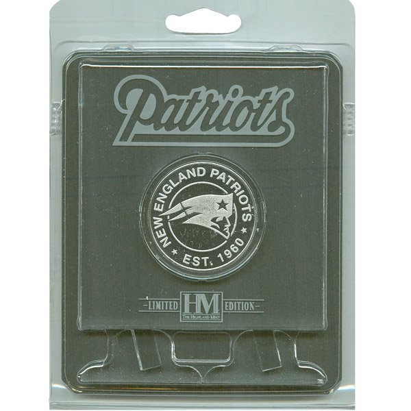 Patriots Est.1960 Coin w/Etched Acrylic Stand