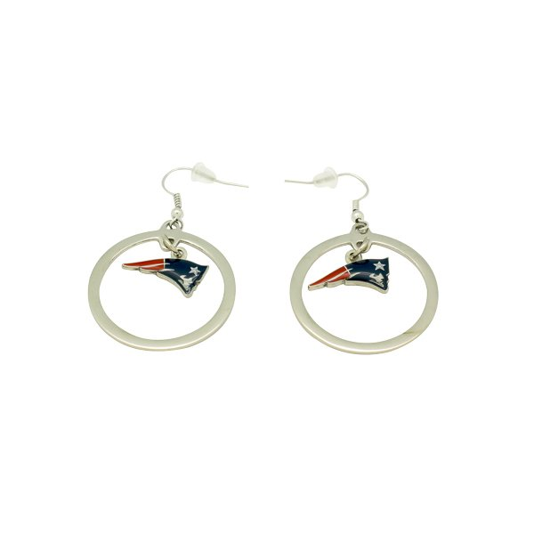 Patriots Floating Hoop Earrings