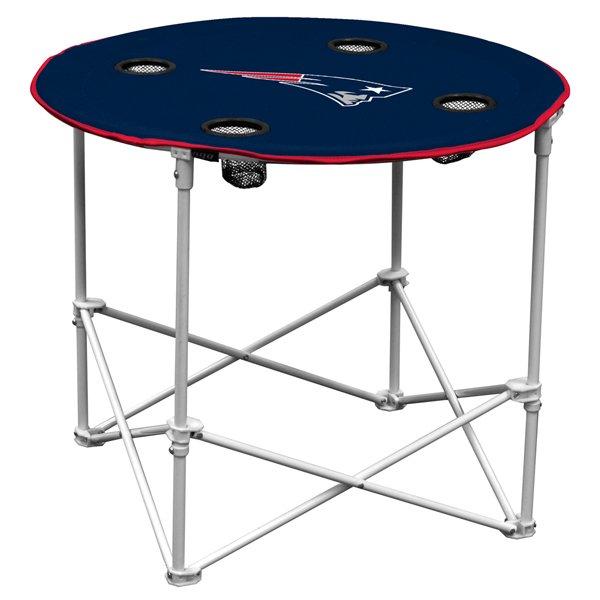 Patriots Fold Up Round Table-Navy