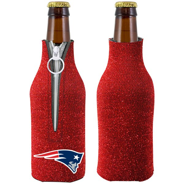 Patriots Glitter Bottle Coolie-Red