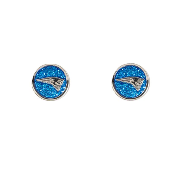 Patriots Glitter Post Earrings
