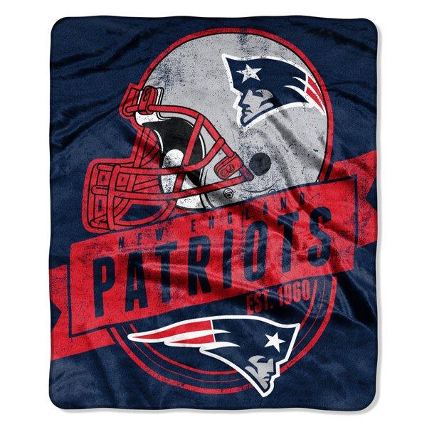 Patriots Grand Stand Raschel Throw