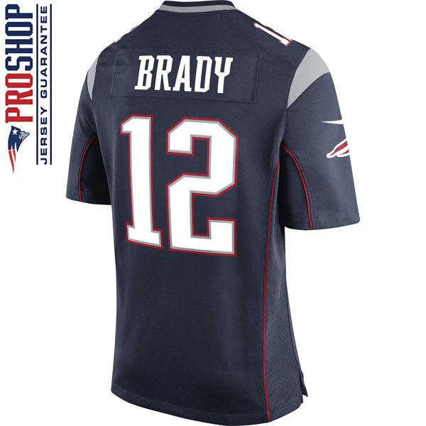 Nike Tom Brady #12 Game Jersey-Navy