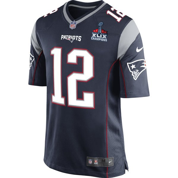 Nike Tom Brady Game Jersey w/SB Patch-Navy