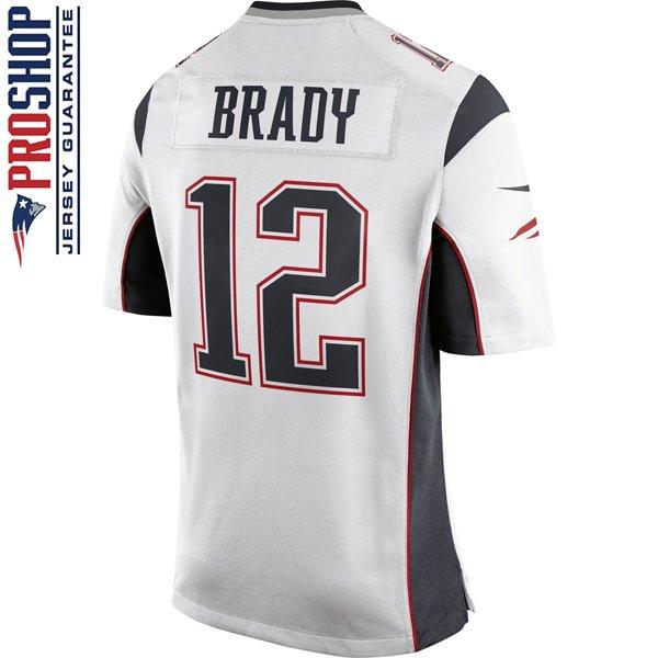Nike Tom Brady #12 Game Jersey-White