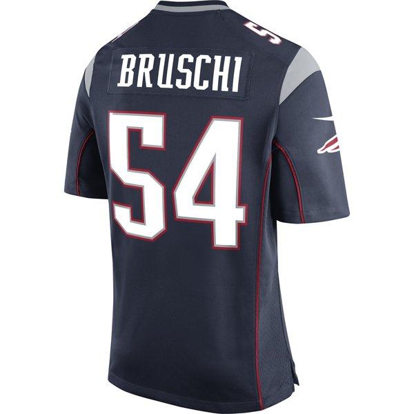 Nike Tedy Bruschi #54 Game Jersey-Navy